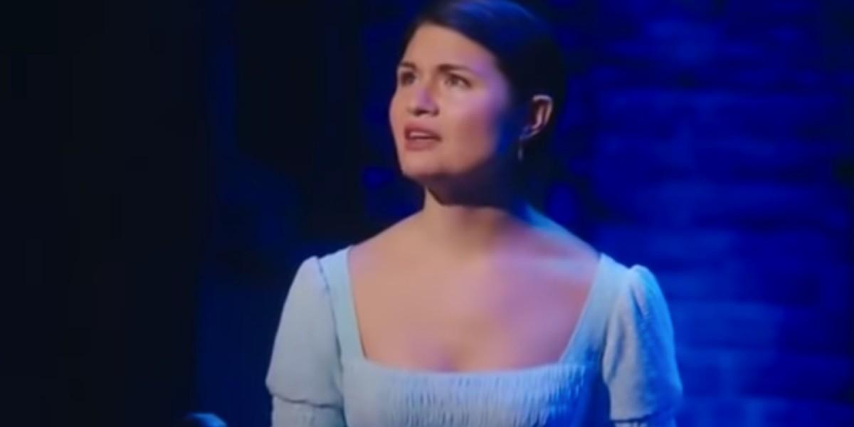 "SCREENSHOT from YouTube Video: ""Phillipa Soo Burn Hamilton The Musical"""
