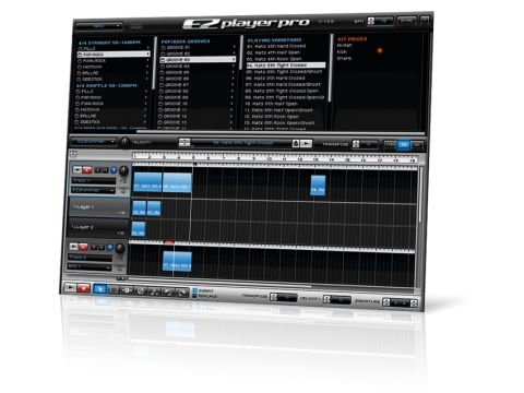 EZplayer Pro features a Browser and an Arranger.