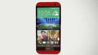 Have a play with the red HTC One M8""