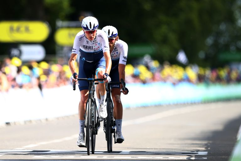 Chris Froome on stage two of the Tour de France