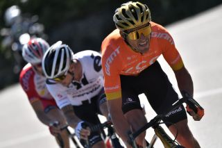 From R Escapees Team CCC rider Belgiums Greg Van Avermaet Team Sunweb rider Irelands Nicolas Roche and Team Cofidis rider Spains Jose Herrada Lopez ride during the 6th stage of the 107th edition of the Tour de France cycling race 191 km between Le Teil and Mont Aigoual on September 3 2020 Photo by Marco Bertorello AFP Photo by MARCO BERTORELLOAFP via Getty Images