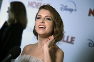 American actress Anna Kendrick at an entertainment event.
