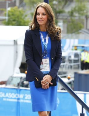Catherine, Duchess of Cambridge arrives at Hampden Park