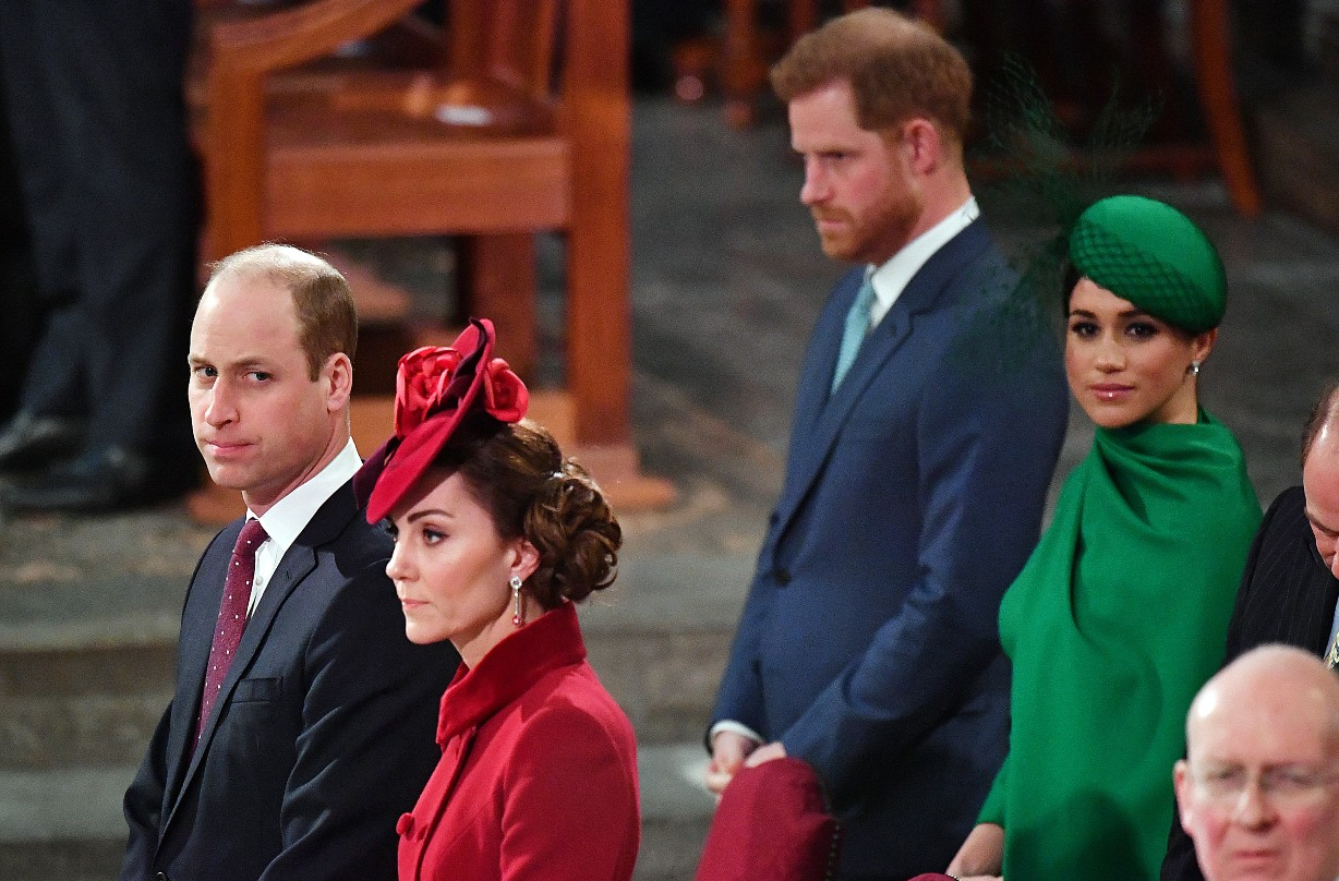 Prince William, Kate, Prince Harry and Meghan