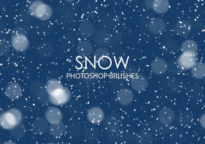 Photoshop brushes: snow