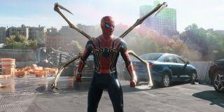 Spider-Man in Iron Spider suit in No Way Home trailer