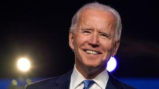 Then Democratic presidential nominee Joe Biden addresses the nation at the Chase Center Nov. 6, 2020 in Wilmington, Delaware.