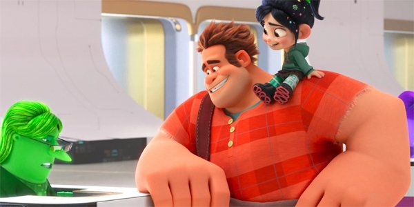 Ralph Breaks The Internet Wreck-It Ralph and Vanellope at the eBay checkout counter