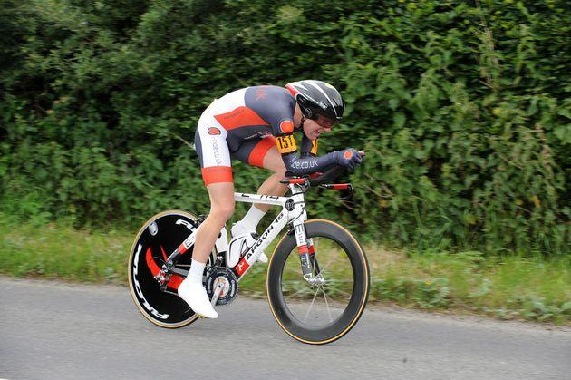 Matt Bottrill, second men, British National 25-mile time trial 2011