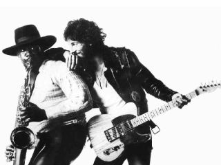 Clarence Clemons and Bruce Springsteen as they appear on 1975 s Born To Run