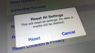iOS 8 Reset All Settings