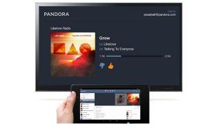 Chromecast Pandora app