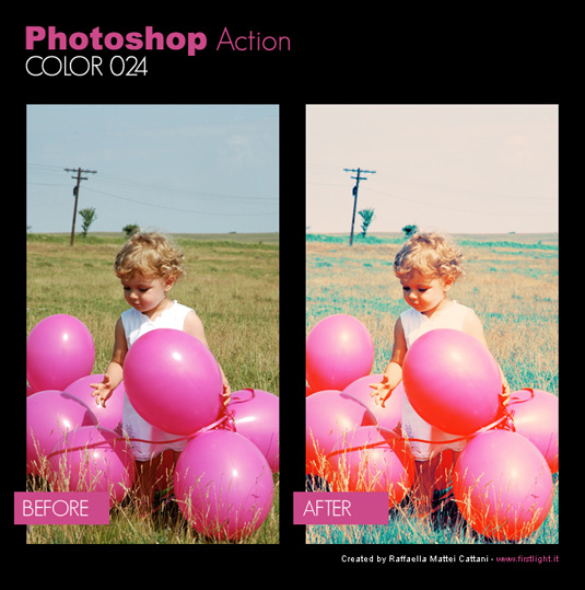 Free Photoshop actions: Color 024