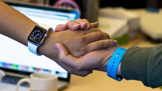 Apple Watch patent handshake