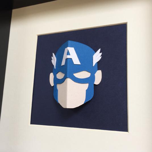 You'll love this 3D superhero wall art