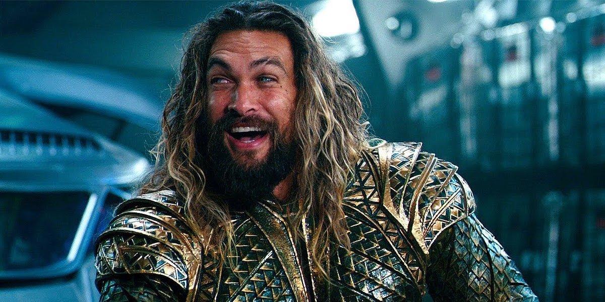 Aquaman laughing in Justice League