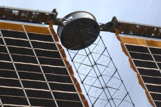 'Bullet Hole' in ISS Solar Array