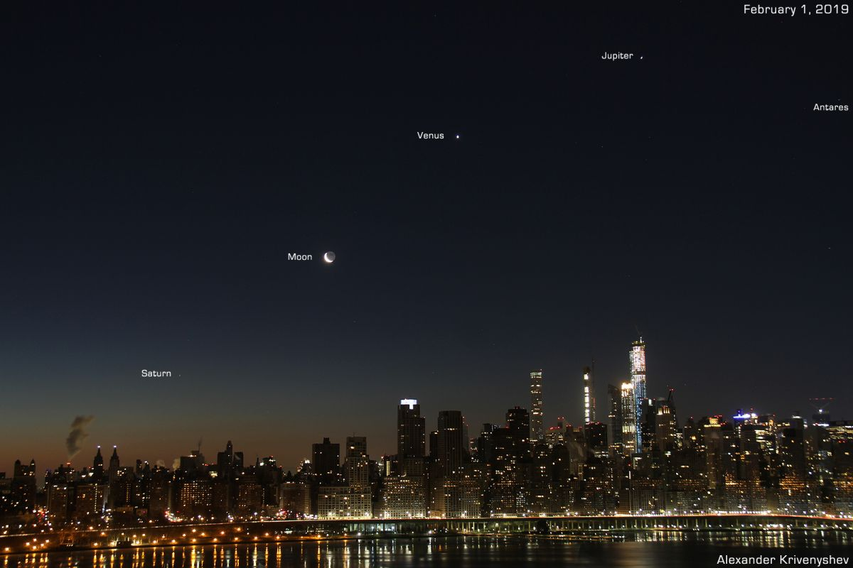 Bright Sights, Big City: Planets Align Over Manhattan in Gorgeous Photo