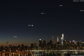Planets moon antares new york