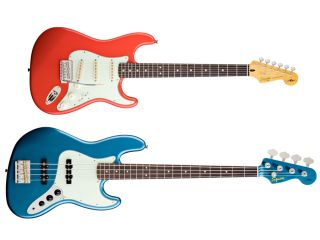 The Simon Neil Signature Stratocaster and the James Johnston Jazz Bass