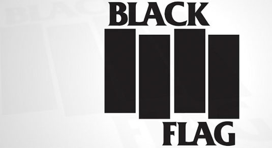 35 beautiful band logo designs - Black Flag