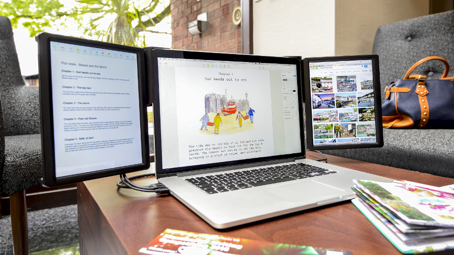 This bolt-on monitor gives your MacBook up to two more Retina displays |  TechRadar