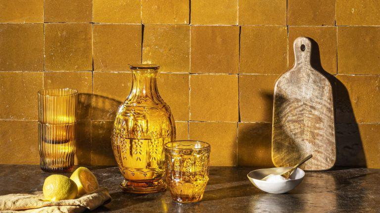 Otto Tiles & Design orange tiles in a kitchen