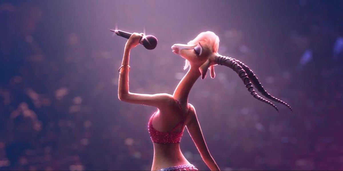 Shakira's character Gazelle in Zootopia