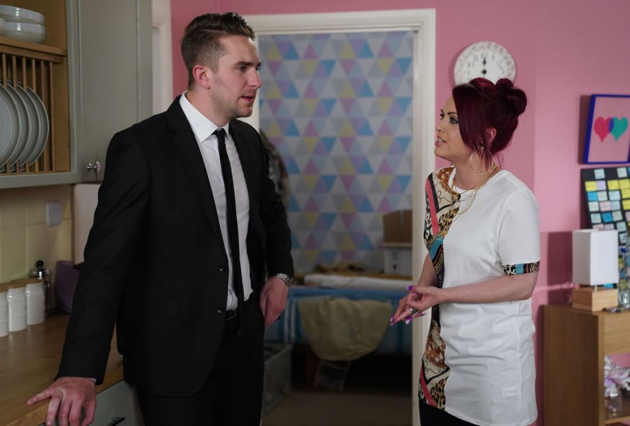 EastEnders Callum and Whitney Dean argue