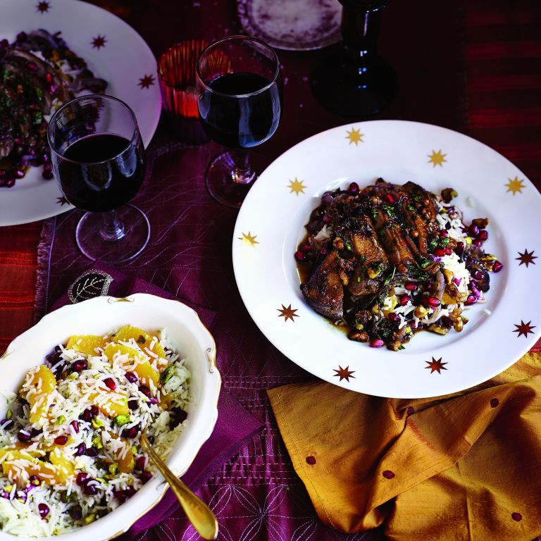 Duck with Pomegranate and Walnuts