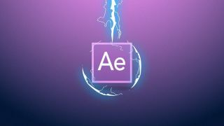 Best After Effects tutorials: AE logo being zapped by a lightning bolt