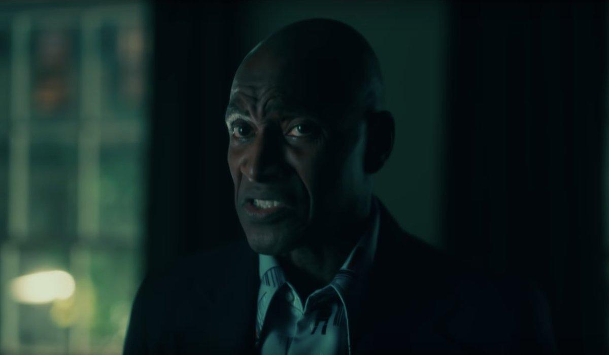 Doctor Sleep Dick Halloran talks to Danny in a dark room