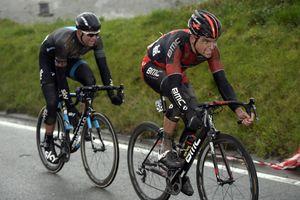 Greg Van Avermaet and Ian Stannard in the 2014 Omloop Het Nieuwsblad
