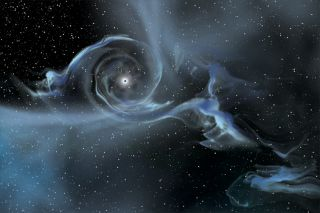 As a black hole sucks material from nearby objects (like this illustration showing the beast pulling gas from a companion star), its event horizon gets bigger.