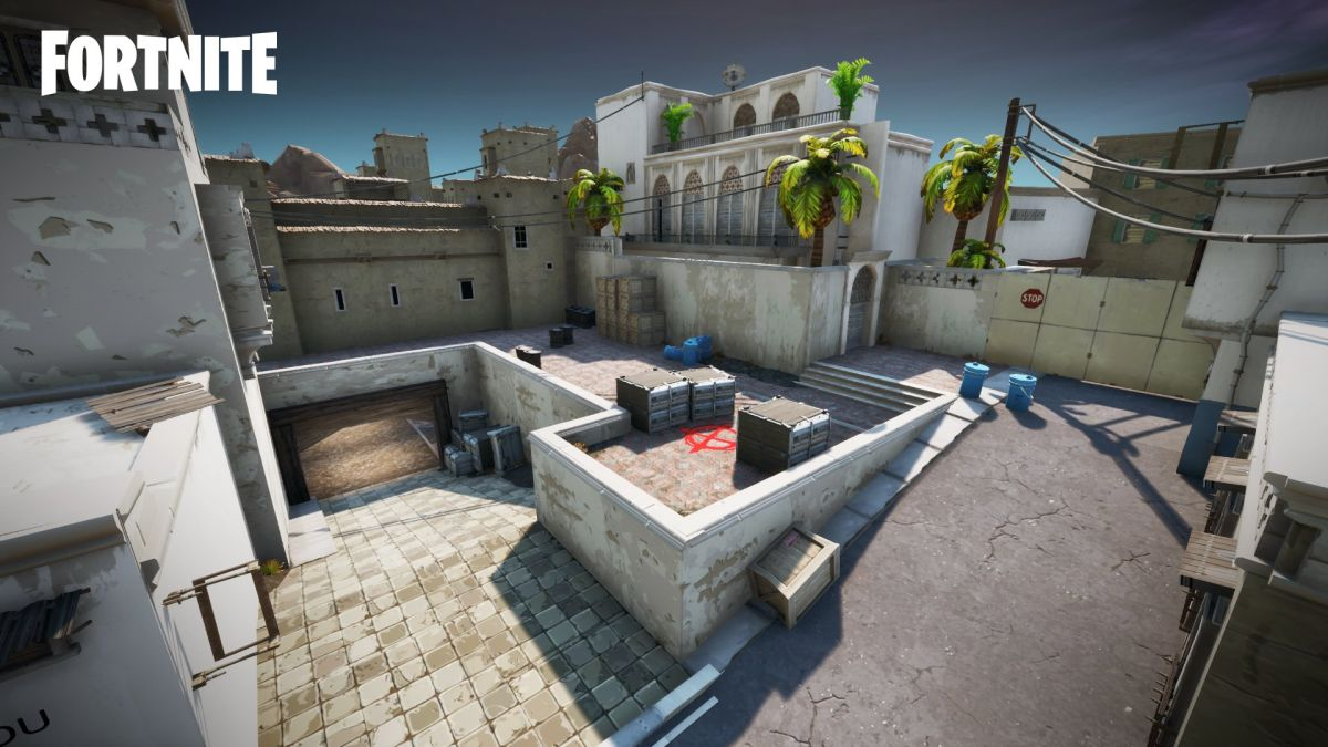 Fortnite map makers recreate Counter-Strike's Dust 2