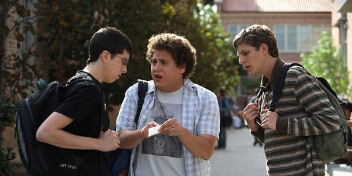 Jonah Hill, Michael Cera, and Christopher Mintz-Plasse in Superbad