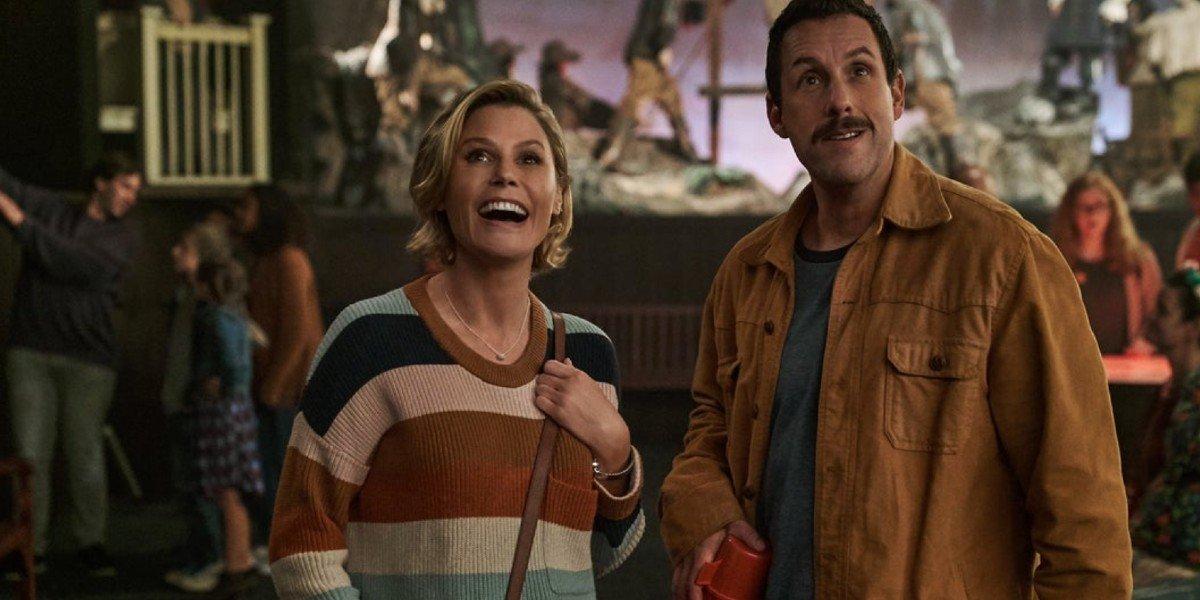 Adam Sandler and Julie Bowen in Hubie Halloween