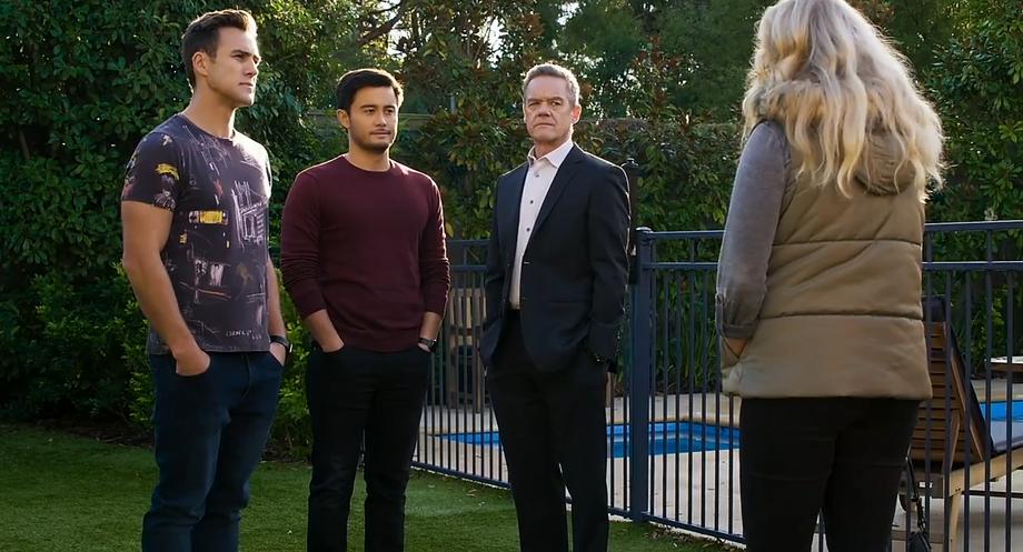 Neighbours, Aaron Brennan, David Tanaka, Paul Robinson, Jenna Donaldson