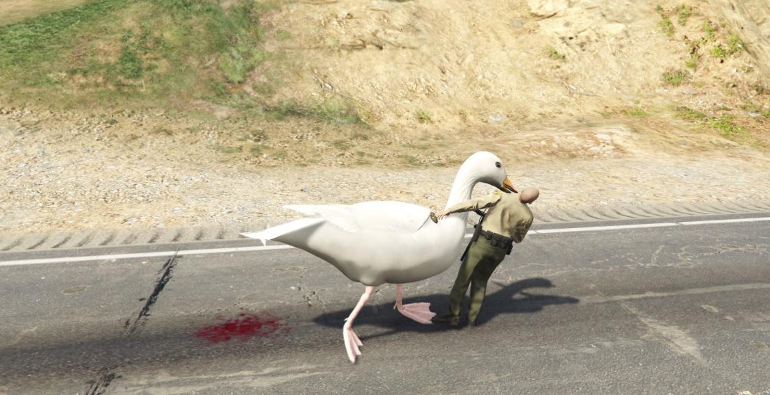 GTA 5 mods: Big Goose