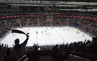 Ice hockey stadium in Malmo, Sweden.