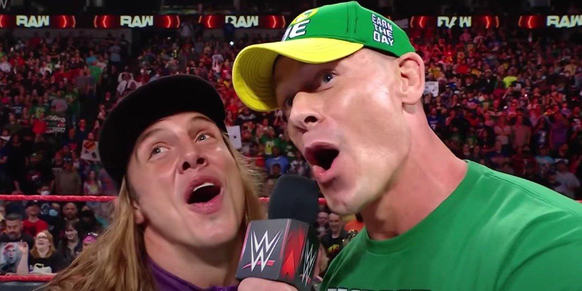 "Matt Riddle and John Cena saying ""bro"" Monday Night Raw WWE"