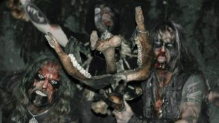A press shot of Watain looking very spooky