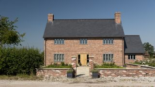a traditional brick house design