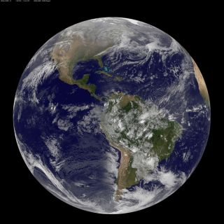 GOES Full Disk Shows First Day of Spring in the Northern Hemisphere