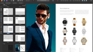 Magazine fashion spread about men's watches - best desktop publishing software