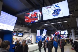 The NHL's Montreal Canadiens use Matrox Maevex encoders to stream high-quality, Full HD 1080p60 advertising and player-profile content onto more than 100 displays throughout the Bell Centre concourse.