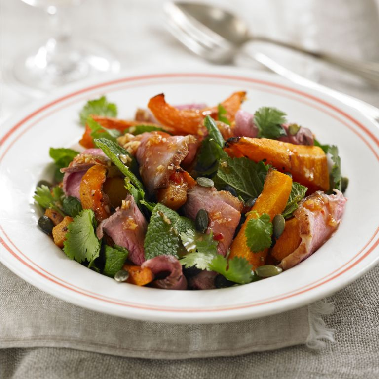 Sweet Thai Duck breast and butternut Salad recipe-recipe ideas-new recipes-woman and home
