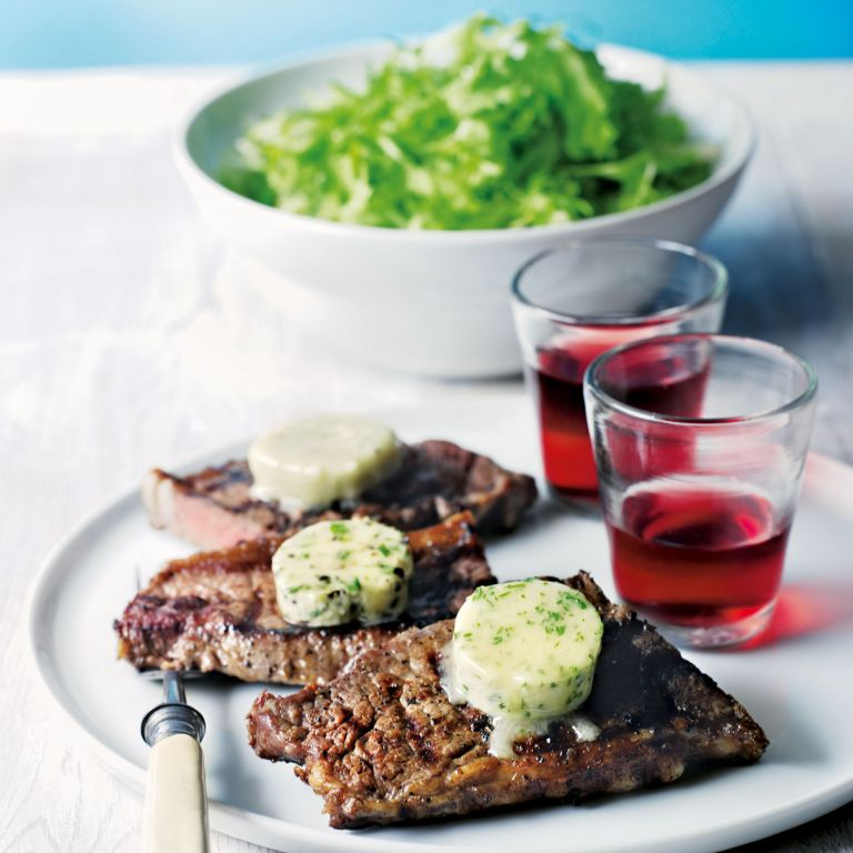 Griddled Steak with flavoured butter recipe-steak recipes-recipe ideas-new recipes-woman and home