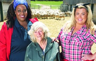 The celebs attempt to keep smiling – but that's easier said than done… on a Sugar Free Farm