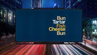 McDonald's type-based billboards